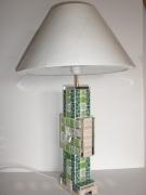 """artisanat dart autres totem mosaique emaux verre : lampe à poser en mosaïque """"Totem"""""""