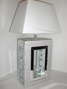 """artisanat dart autres lampe mosaique miroir emaux : lampe à poser en mosaïque """"bleu nacré"""""""