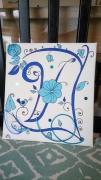 deco design fleurs calligraphie floral porte bijoux initiale : lettre caligraphie
