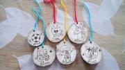 bois marqueterie autres noel sapin decoration prenom : déco noël