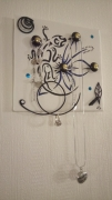 deco design animaux lezard porte bijoux tableau fleur : salamandre