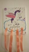 deco design animaux licorne fille porte bijoux barrette : licorne