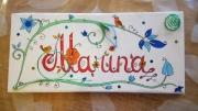 deco design fleurs prenom calligraphie champetre porte bijoux floral : prénom champêtre