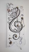 deco design sport musique porte bijoux cle de sol tableau : clé de sol
