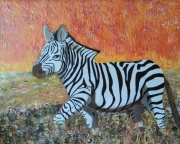 tableau animaux zebre : Drôle de zèbre