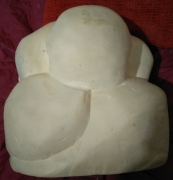 sculpture personnages yogi sculpture sur pierre : Yogi, de face