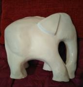 sculpture animaux elephant platre : Éléphant