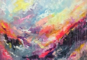 tableau abstrait art : painting Color emotion