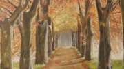 tableau : ALLEE D'AUTOMNE