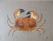 tableau animaux mer crabe peinture animaliere decoration : LE CRABE