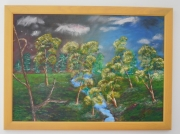 tableau paysages arbres riviere paysage nature : in aqua ore