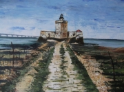 tableau paysages charente maritime fort maree basse : Fort Louvoie Charente  Maritime