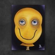 tableau personnages ballon smiley smile masque : Smiley