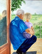 tableau personnages enfant grand pere protection : Protection